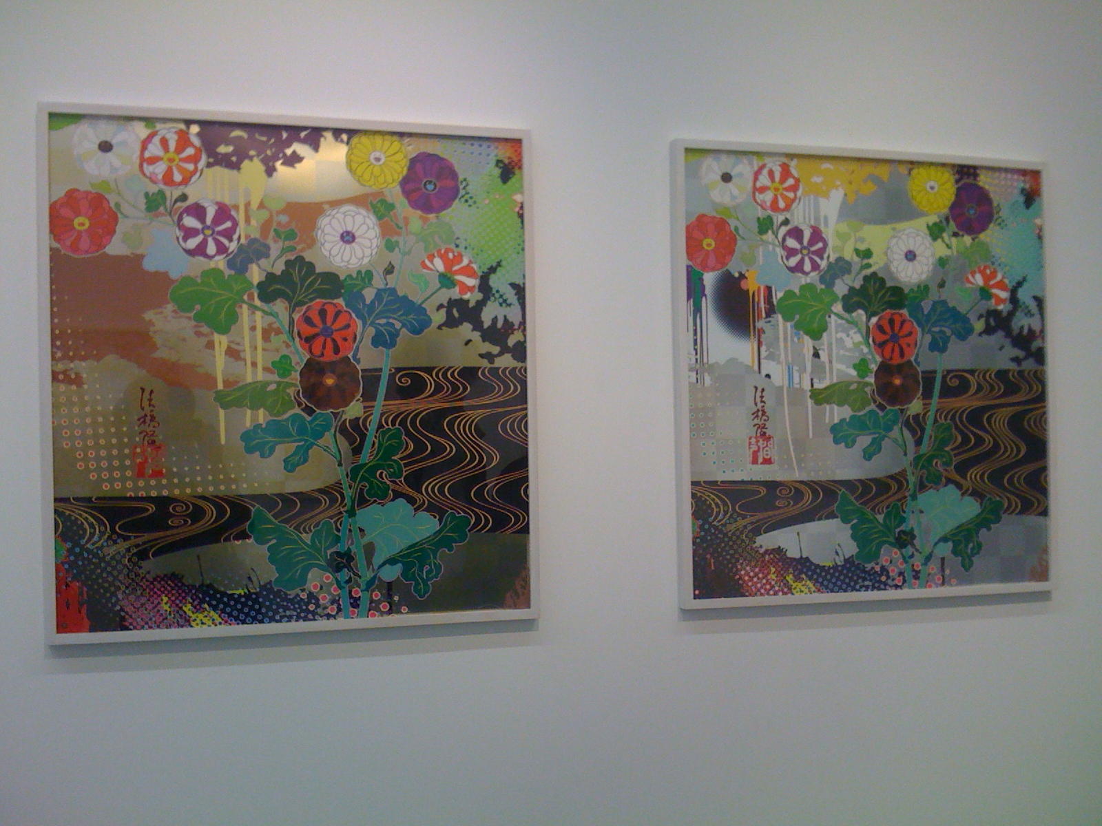 takashi murakami l 39 andy warhol japonais expose la galerie perrotin zest for art blog art. Black Bedroom Furniture Sets. Home Design Ideas