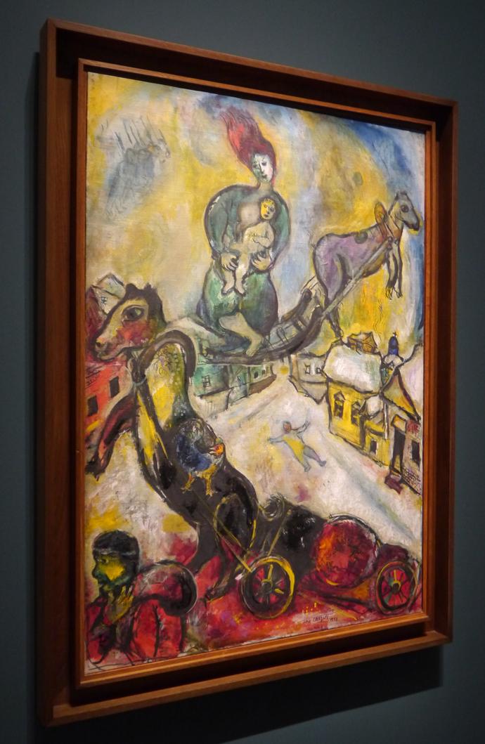 Exposition chagall entre guerre et paix mus e du for Marc chagall paris vu de ma fenetre