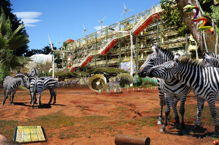 Chris Morin-Eitner - Paris, Pompidou Savane - Tirage argentique - Exemplaires limités - 2011 © Galerie W